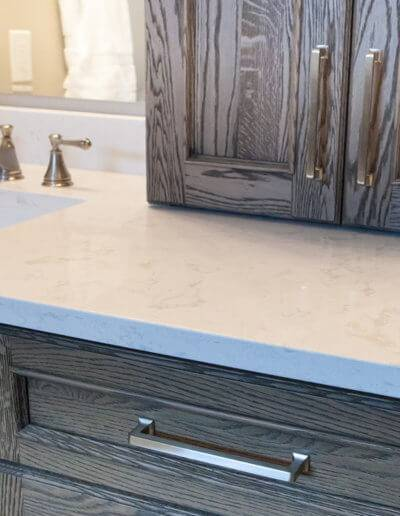 A white marble counter top.