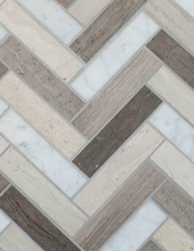 New chevron patterned floor tile.