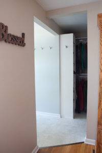 An entrance to the remodeled space.