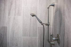A photo of the new removable shower head.