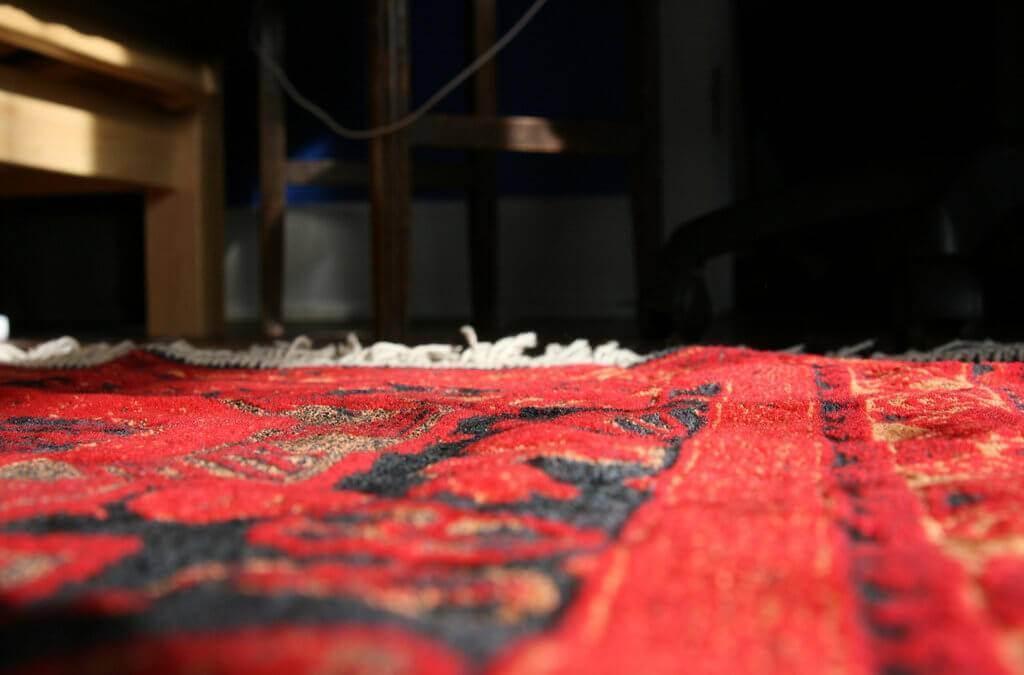 A Moroccan rug.