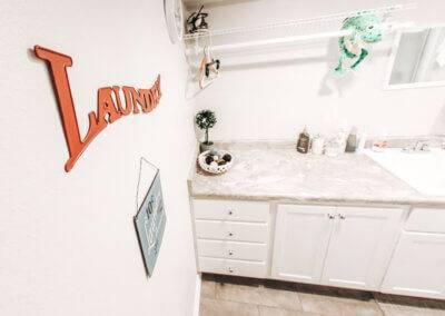 Stitzell Basement Laundry Room Remodel