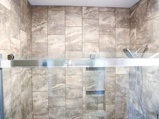 Tile & Bench Bathroom Remodel