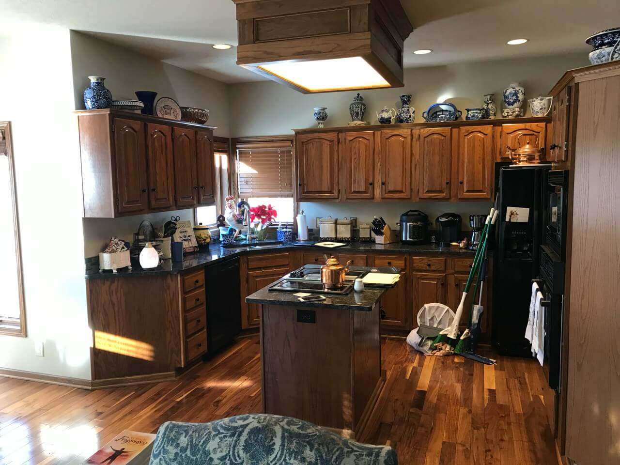 A sparkling new kitchen after a Cyclone remodel.